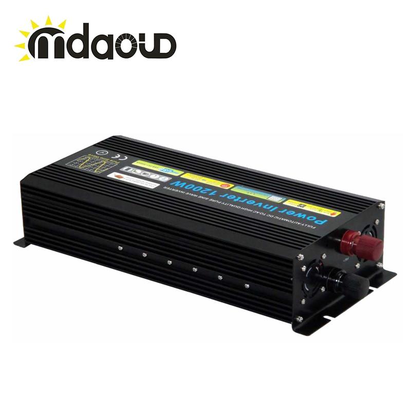 цена на DC12V 24V 48V TO AC 220V 110V 2000W inverter PURE SINE WAVE POWER SOLAR SYSTEM INVERTER /peaking 4000W