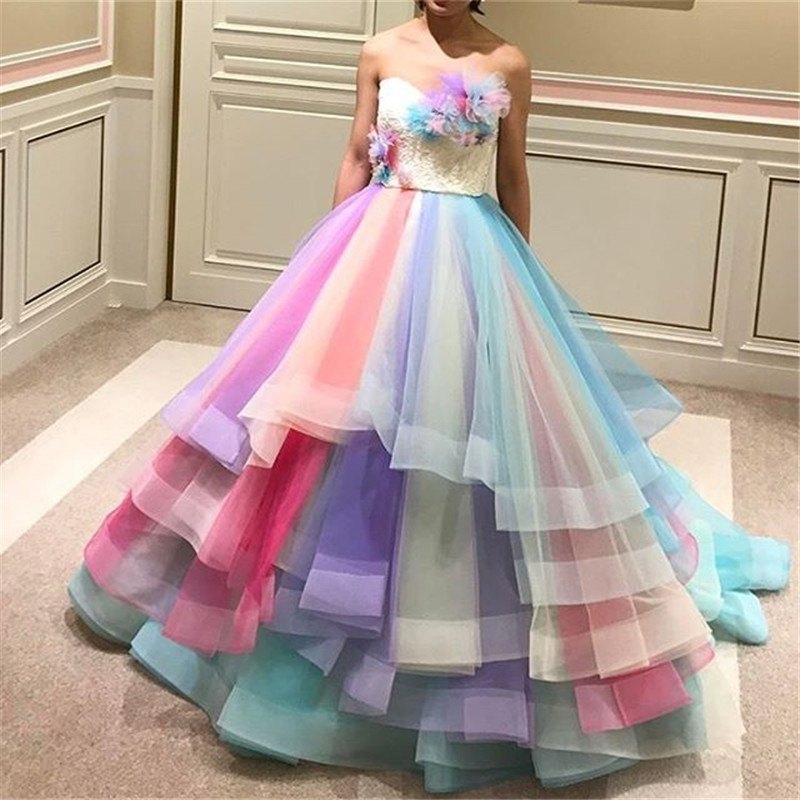 Rainbow Bridal Gown Reviews Online Shopping Rainbow Bridal Gown