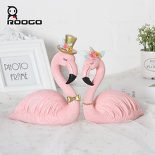 Pink Flamingo couple Home Decoration desk ornament Wedding Birthday Supplies Valentines Day Party Gift