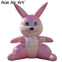 Модель реплики украшения пасхи, раздувной розовый кролик для на открытом воздухе двора