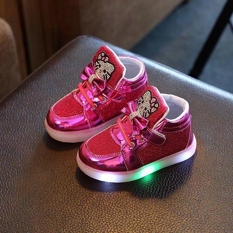 2016 Nye børn Casual Shoes Bomuldsbåndet Canvas Sko Mand Kvinde Slip-resistente Drengere Piger Glødende Sneakers Gratis fragt