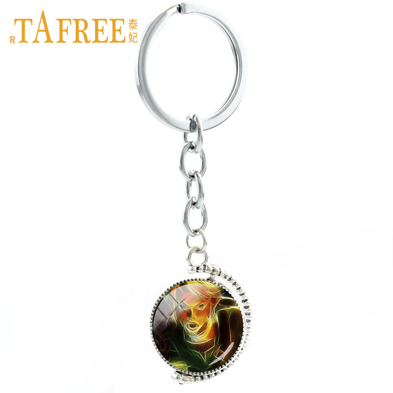 TAFREE popular Game Double side keychain Anime game Cartoon characters pictures good quality new style 2017 trendy jewelry A341