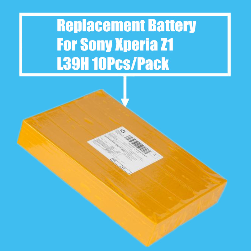 New Arrival 10Pcs/Pack Replacement Battery 3000mah for Sony Xperia Z1 L39H L39T L39U C6902 C6903 C6906 High Quality