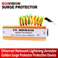 Golden Ethernet Network Lightning Arrester Surge Protector Protection Device