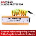 Red Ethernet de oro Rayo Protector Contra Sobretensiones Protección
