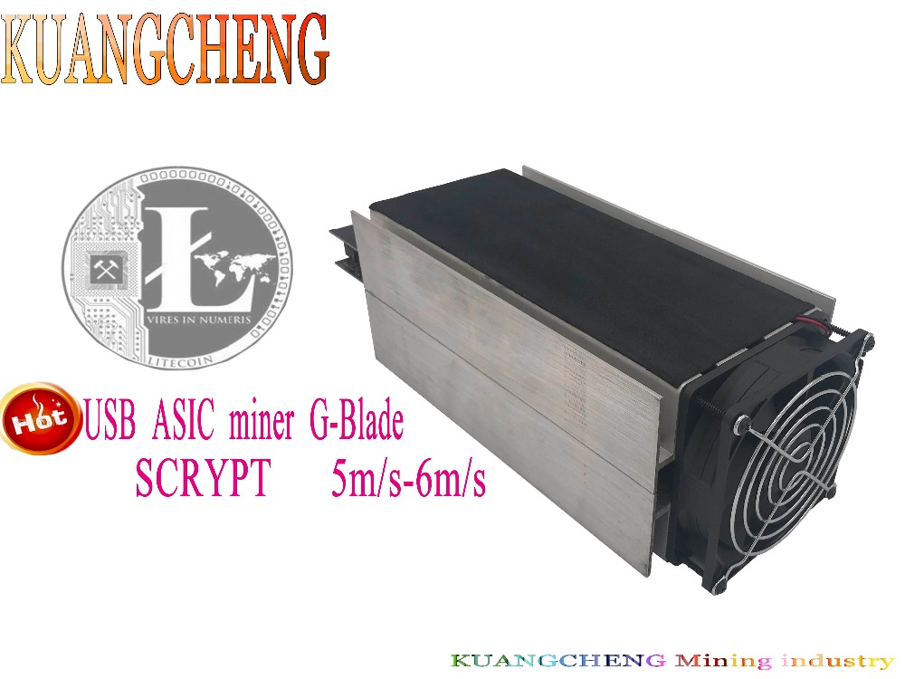 KUANGCHENG Mining Industry Free Shipping Scrypt Algorithm ASIC Spot Gridseed G-Blade Litecoin Blade Miner 5M/S-6M/S.