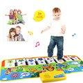 New Fashion New Jogar o Teclado Toque Musical Cantando Ginásio Carpet Mat Melhor Crianças Baby Gift FRETE GRÁTIS