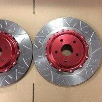 Jekit big brake disc 380*34mm slot rotor with red center bell for Brembo GT6 brake caliper for TOYOTA ALPHARD 2018 Front