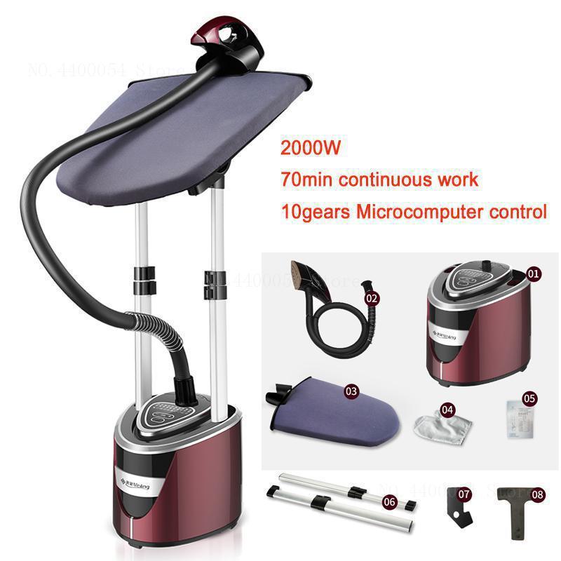 2000 Вт вертикальные отпариватели для одежды ручной электрический утюг 10 скоростей термостат керамическая головка 2 Поддержка с гладильной доской 2.0L - Цвет: 1