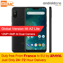 Free tax!Global Version Xiaomi Mi A2 Lite 4GB 64GB Android 8.1 Smartphone Snapdragon 625 Octa Core 5.84