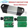 V160 Renault Can Clip Code Reader Диагностический Сканер Профессиональный Для Автомобилей Renault От 1998 ~ 2015 Зеленый ПЕЧАТНОЙ Платы Стабильной функция