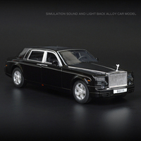 Hot 1:32 scale wheels diecast cars Rolls Royce Phantom metal model pull back alloy toys with light and sound collection for gift