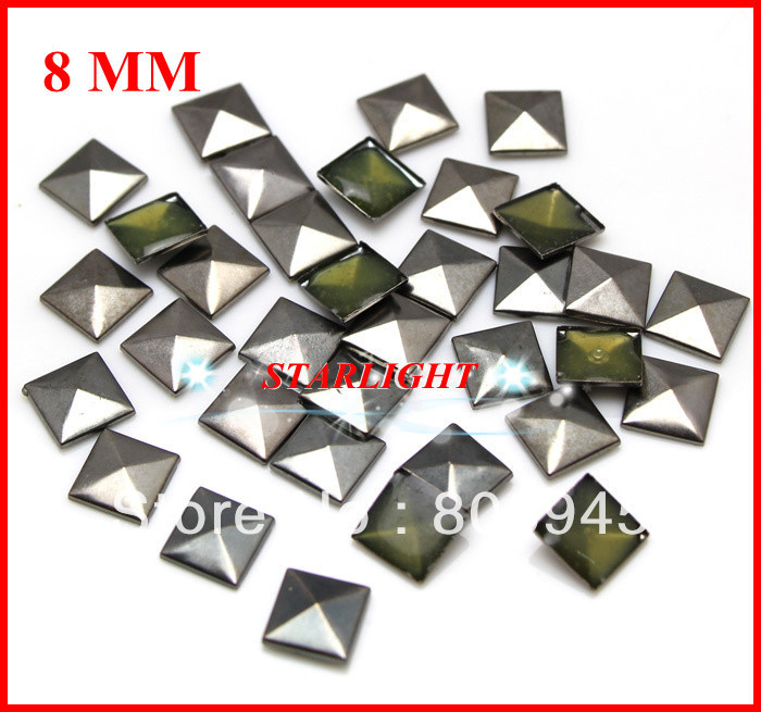 288PCS//2GRS Rhinestuds Hot Fix Iron on Star Shape Heat Press Aluminum Stud 10mm