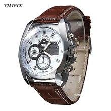 2017 New Man Wristwatches Stylish Genuine Leather Round Quartz Watch Belt Life Waterproof Watch Male Free Shipping,Dec 7