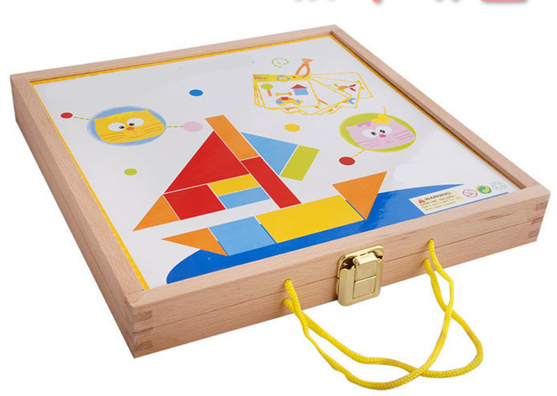 New wooden toy wooden Jigsaw puzzle Building blocks baby educational toy baby gift Free shipping