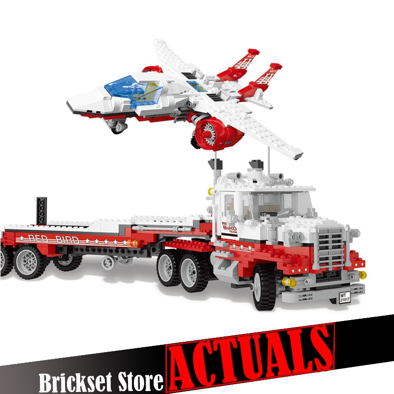 Lepin 21017 1206Pcs Genuine Model Series The Mach II Red Bird Rig Set Building Blocks Bricks Educational Toys for Children Gift compatible legoe genuine model series 5591 lepin 21017 1206pcs mach ii red bird rig building blocks bricks toys for children