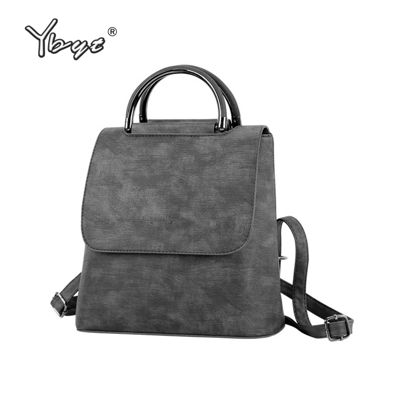 YBYT brand 2018 new PU leather women rucksack Multipurpose satchel female shopping shoulder bags ladies casual travel backpacks цена