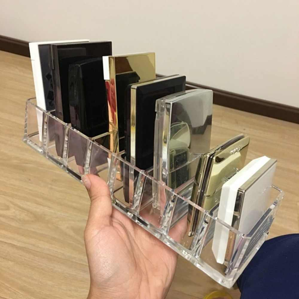 Practical Clear Acrylic Makeup Arrangement Storage Box Lipstick Holder Transparent Multi-Slots Desktop Cosmetic Organizer