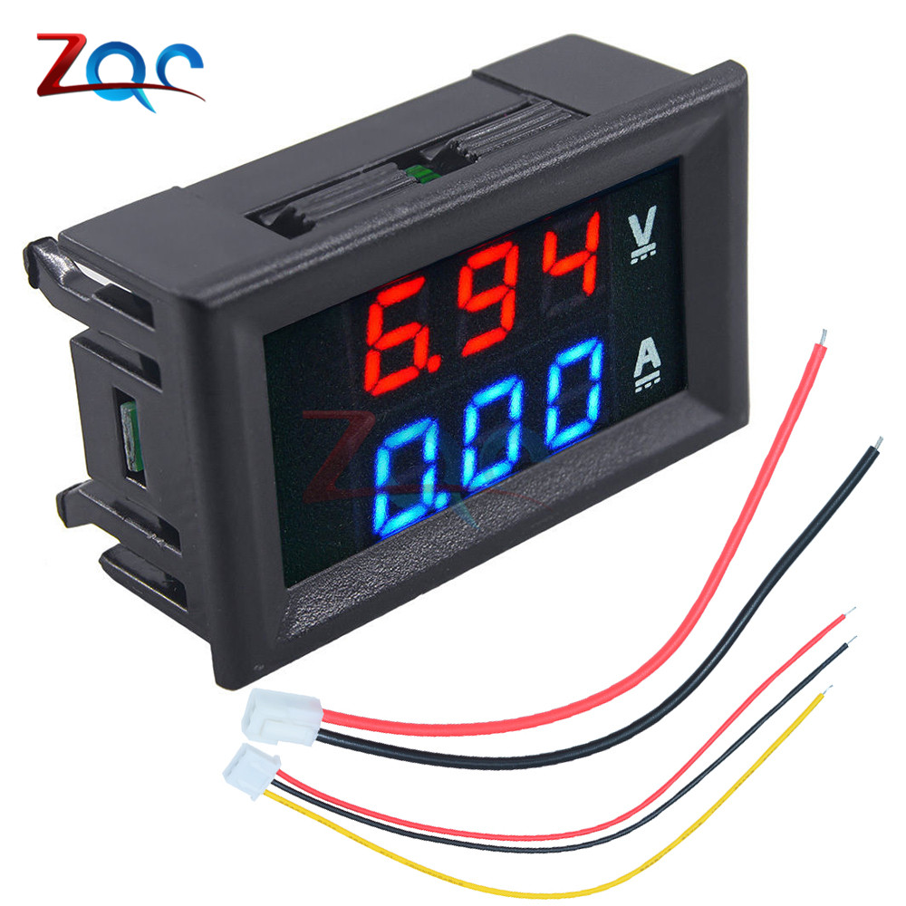 10pcs Mini Digital Voltmeter Ammeter DC 100V 10A Panel Amp Volt Voltage Current Meter Tester Detector 0.56