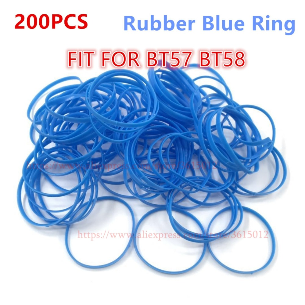 200PCS LOT Rubber Blue Ring high quality Microphone Grilles Fit for Shure Beta57 Beta57A 58A