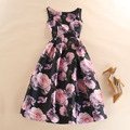 Women Summer Autumn Fashion Blossoming Floral Printing Dress Female Sleeveless Tank Vest Casual Day Dresses Plus Size Vestido