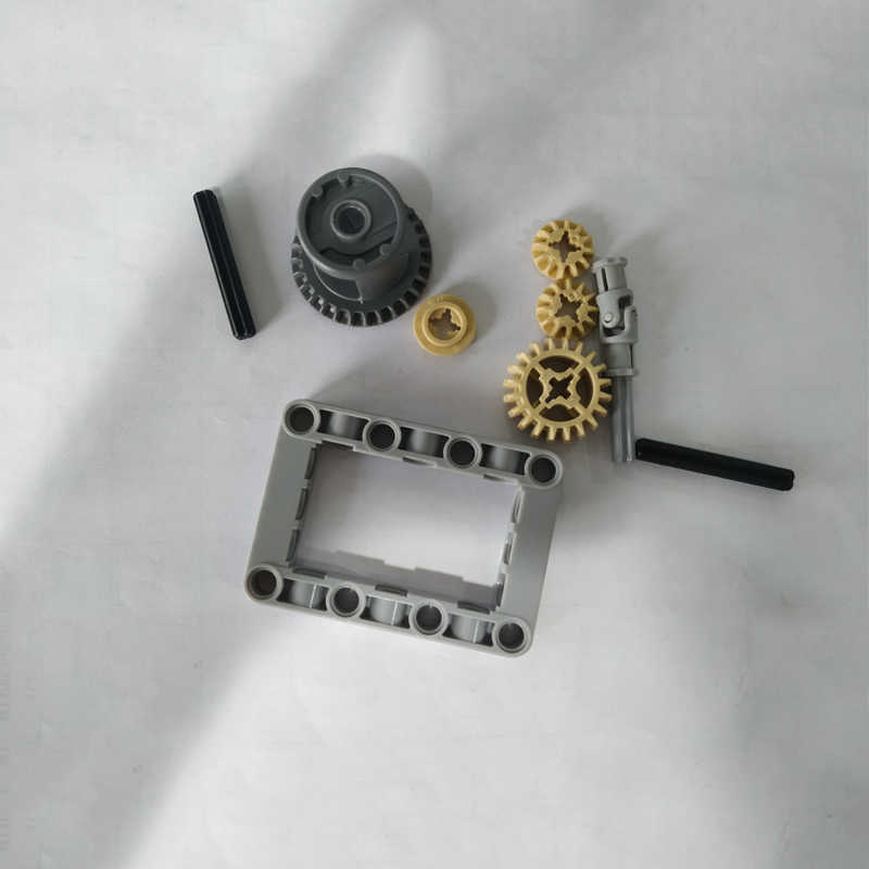 10Pcs/Set MOC Technic Parts Technic FRAMED DIFFERENTIAL GEAR SET Kit Pack Chassis Bulk Parts DIY Toys Compatible with legoes