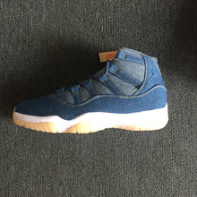 3cbe4e026b63 Michael Jordan 2018 Original New Jordan 11 Retro Cowboy blue Men s  Basketball Shoes