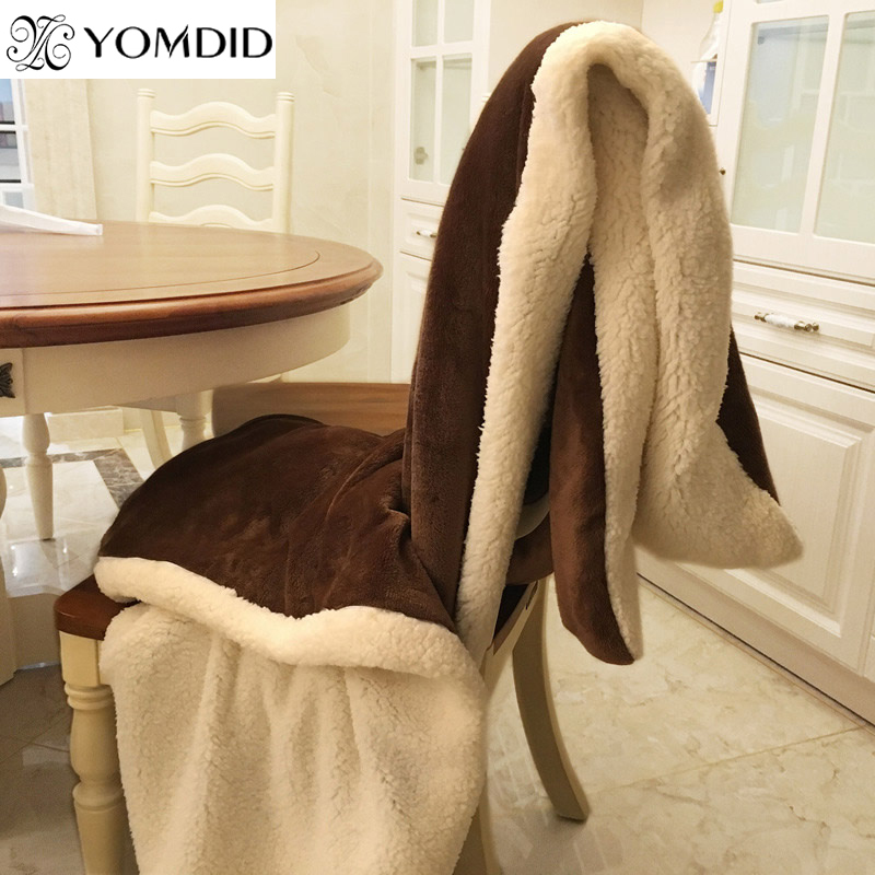Winter Wool Blanket Ferret Cashmere Blanket Warm Blankets Fleece Plaid Super Warm Soft Throw On Sofa Bed Cover Square Blanket