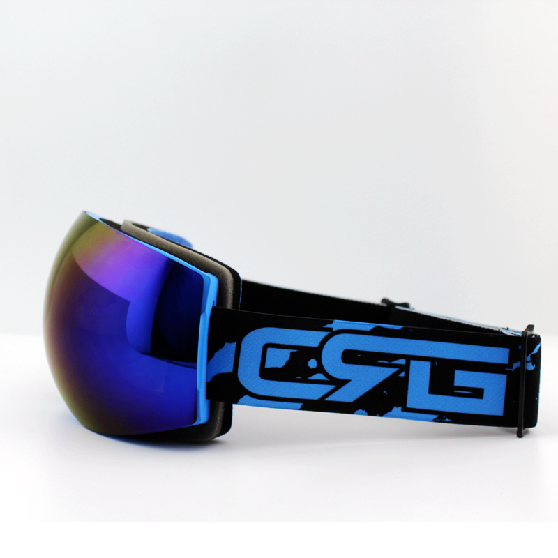 Lila Linse Blau Rahmen Marke Skibrille Doppel UV400 Anti-Fog Große - Sportbekleidung und Accessoires - Foto 2