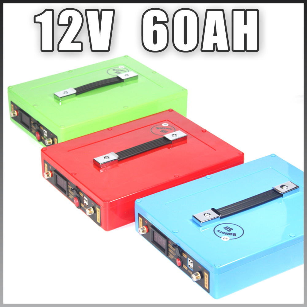 12V 60AH Lipo Battery Solar Lithium ion Battery Pack 12V Golf Car Battery free customs taxes super power 1000w 48v li ion battery pack with 30a bms 48v 15ah lithium battery pack for panasonic cell
