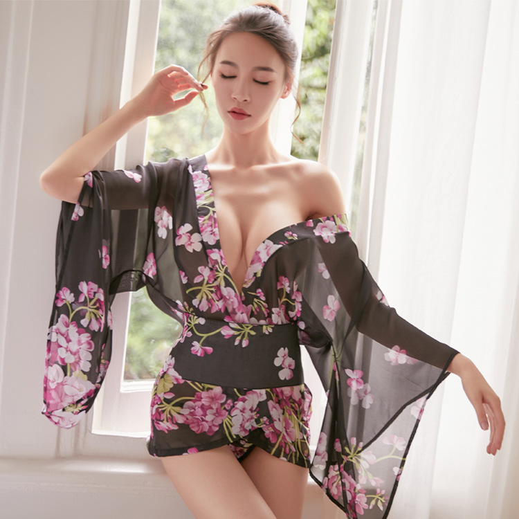 Japanese Lingerie Kimono Uniform Sexy Babydoll Hot Sex Erotic Lingerie Women Sexy Clothes Mini Dress Nightwear Sex Skirt