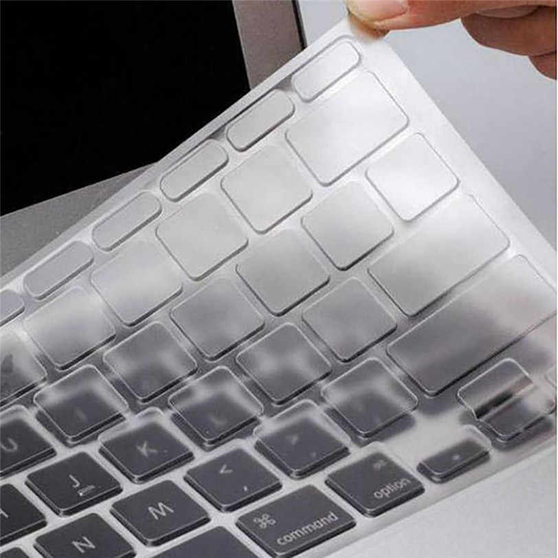 Jelas Keyboard Cover Kulit Silikon Tipis Teclado Pele untuk MacBook untuk Old MacBook Pro 13 15 17 Jul24 Profesional DROP pengiriman