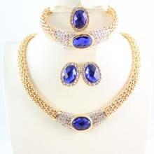 Ювелирные наборы для женщин вечерние свадебные аксессуары голубой