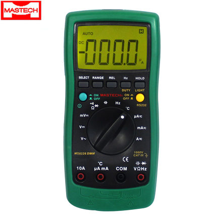 MASTECH MS8226 DMM Digital Multimeter Auto Range Temperature Data acquisition Multimeter Backlight цена