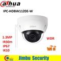 Dahua cámara IP wifi 1.3mp P2P IPC-HDBW1120E-W IP67 IK10 IR 30 m A Prueba de Vandalismo Mini Cámara Domo CCTV cámara de seguridad