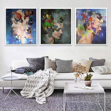 Figure Canvas Painting Posters Print on Wall Art Abstract Picture for Living Room Home Decor No Frame