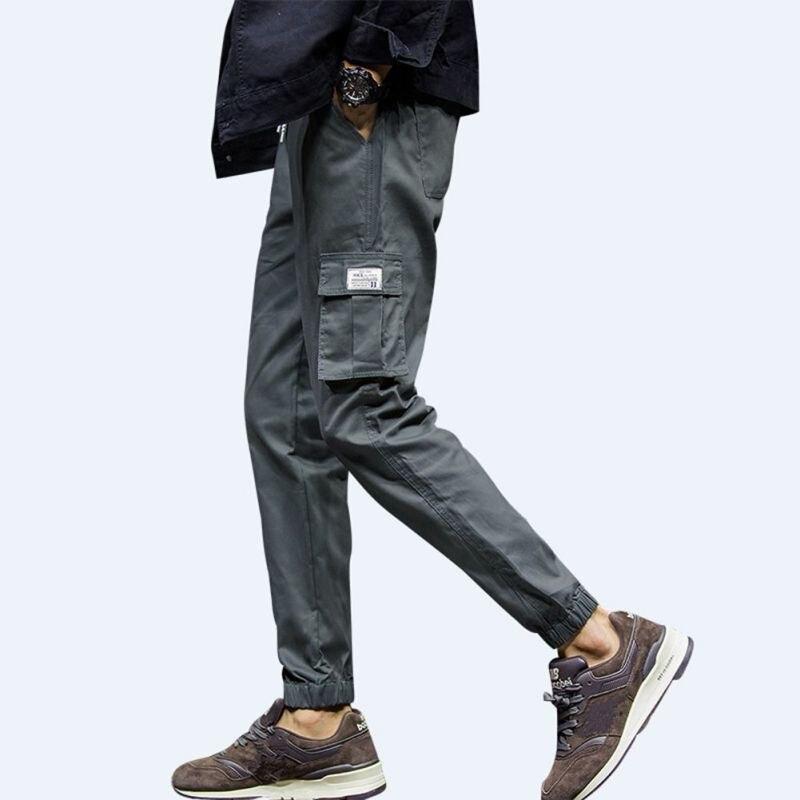 100% Cotton High Quality  Mens Jogger Autumn Pencil Harem Pants Men Trousers Loose Comfortable Position Pants Joggers H6