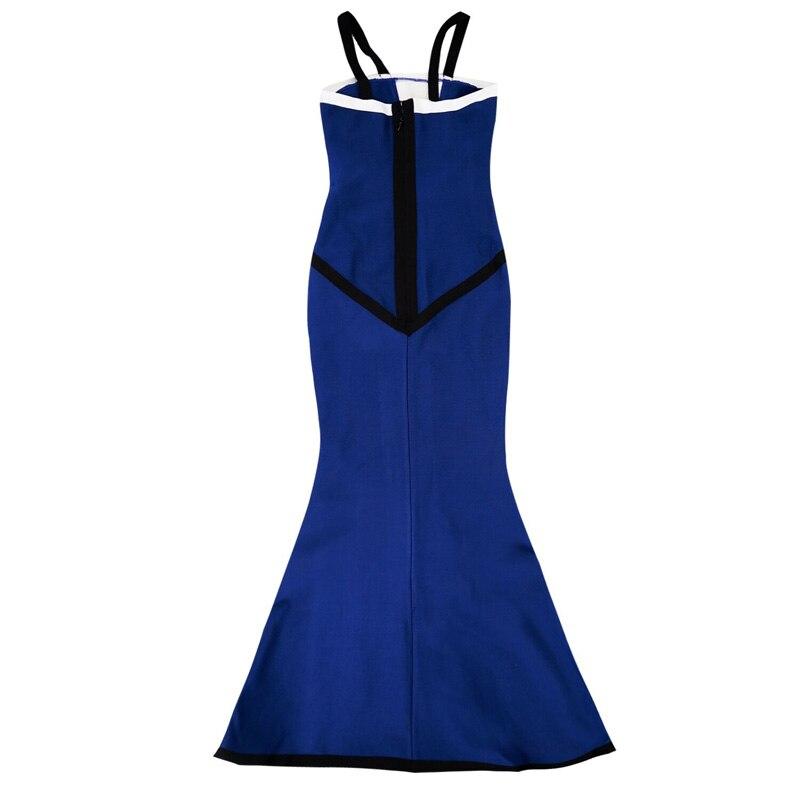 Robe Sans Sexy Bandage Mode Gaine Robes Moulante Patchwork Courroie Maxi De Date Party 2018 Bretelles Celebrity Élégant wqRTfcfWp