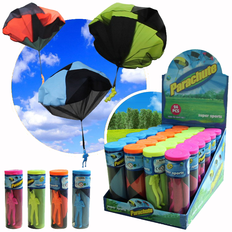 Toy Parachute Play Paratrooper Multicolor Soldier Gift Learning To Throw