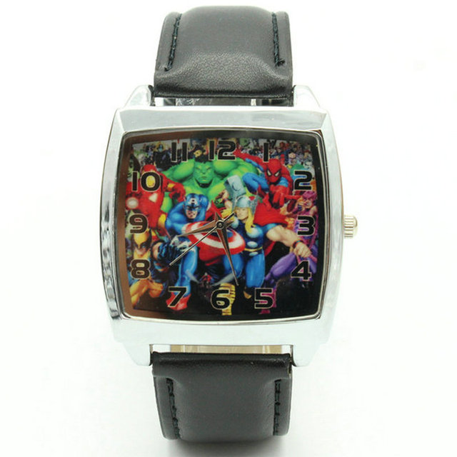 Free Shipping Super Hero Marvel avengers Captain America Boy Child Fashion Watch
