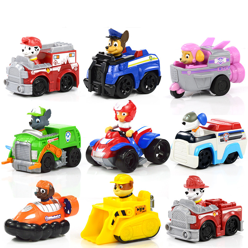 Paw Patrol Dog Puppy Car Patrulla Canina Action Figures vinyl doll Toy Kids Children Toys Gifts canine patrol dog toys russian anime doll action figures car patrol puppy toy patrulla canina juguetes gift for child