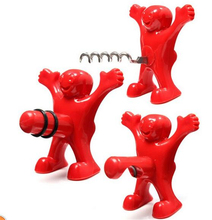 3style/set Novelty Kitchen Bar Red Fun Happy Man Big Dick Villain Wine Beer Bottle Opener Stopper