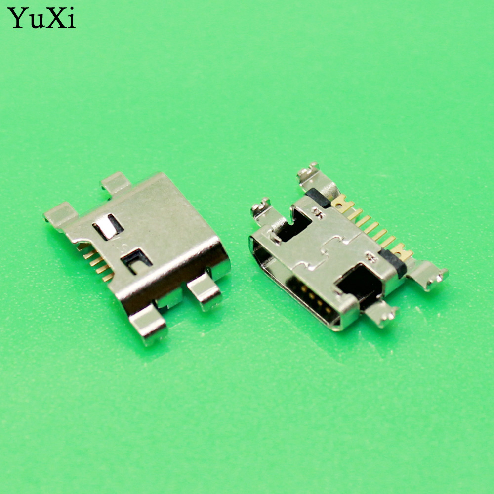YuXi 100pcs/lot micro mini USB Charger Charging Port For LG K10 K420 K428 jack socket Connector Dock plug Repair Part 5pin 100pcs micro usb female socket 5pin smd short needle copper shell data port charging port mk5p mini usb connector