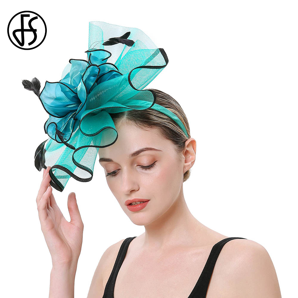 FS 2019 Fascinator Elegant Church Dress Women Kentucky Derby Hat Flower Hairband Ladies Headwear Wedding Hats Hair Accessories