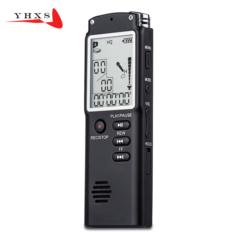 Portable 16GB Original Voice Recorder USB Professional 96 Hours LCD Dictaphone Digital Audio Voice Recorder with WAV MP3 Player ...