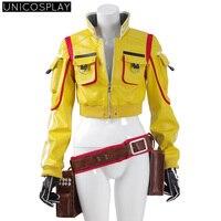Final Fantasy XV Cindy Aurum Cosplay Jacket Holster Gloves Halloween Costume For Women Men