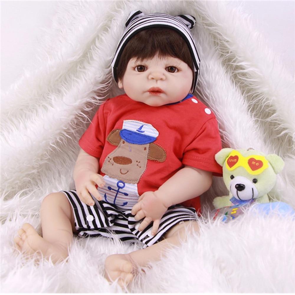 Full Silicone Vinyl Baby Doll Toy Lifelike Reborn Bonecas Handmade Silicone Reborn Baby Doll Realistic Boy Kids Birthday gift все цены