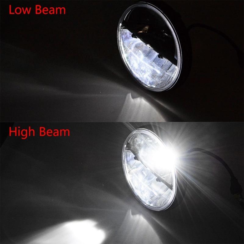FADUIES 1 Pair 7 Inch Hitam Putaran 36 W LED Lampu dengan Tinggi - Lampu mobil - Foto 3