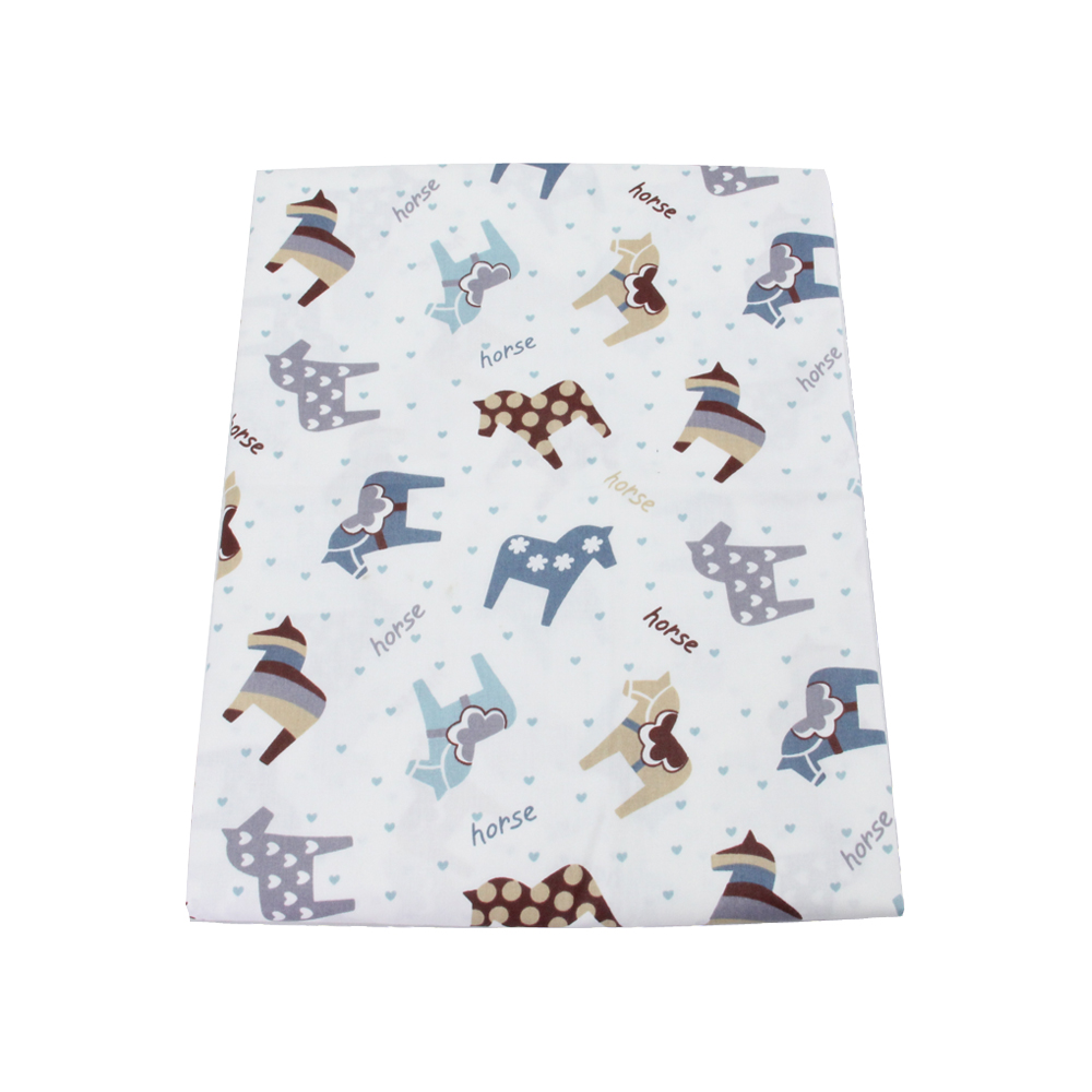 50 147cm horse cotton fabric for tissue kids bedding for Horse fabric for kids