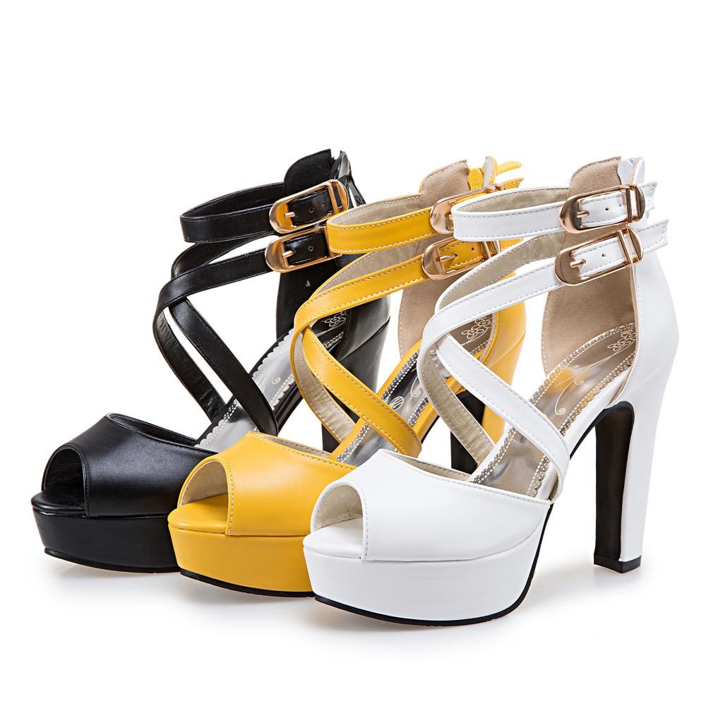 2017 damen Schuhe Gladiator Sandalen Frauen Große Größe 48 49 50 sandalen Damen Dame Party Hochzeit Schuhe Absatzfrauen Pumpt 3126-in Hohe Absätze aus Schuhe bei  Gruppe 2